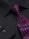 Camicia da divisa uomo elegante, maniche lunghe, modello slim fit, colore nero, tessuto cotone poliestere, easy iron, con cravatta