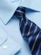 Camicia da divisa uomo elegante, maniche lunghe, modello slim fit, colore azzurro, tessuto cotone poliestere, easy iron, con cravatta