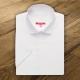Camicia da divisa donna elegante, maniche corte, modello semi-fit, colore bianco, tessuto poliestere cotone