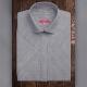 Camicia da divisa donna elegante, maniche corte, colore grigio, tessuto cotone poliestere