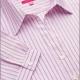 Camicia da divisa a righe donna elegante, maniche corte a sbaffo, colore rosa, tessuto cotone poliestere, easy iron