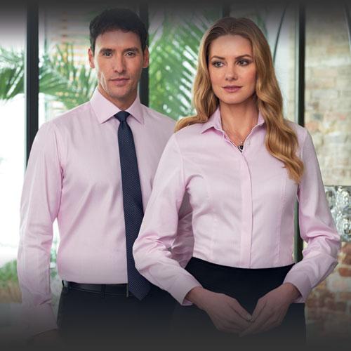 Camicie uomo e donna per divise da lavoro eleganti e abbigliamento professionale