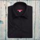 Camicia da divisa donna elegante, maniche corte a sbuffo, vestibilità regular, colore nero, tessuto cotone poliestere, easy iron